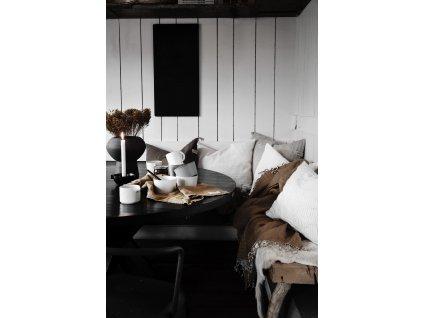 Lněný povlak na polštář se střapci - Mole