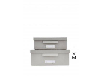 Kartonový úložný box Grey - Medium