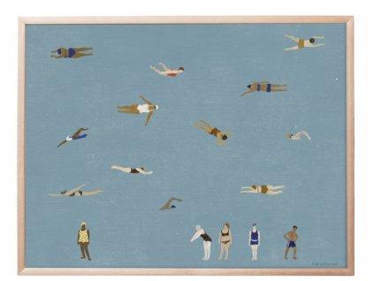 Plakát Swimmers - 50x40 cm