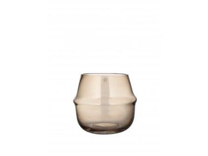 Skleněná váza Vas Brown - 11 cm