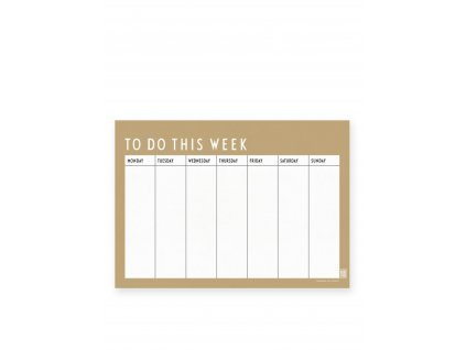 Týdenní plánovací kalendář To Do This Week - Beige