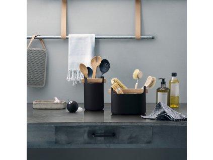 Stojan na kuchyňské náčiní Toolbox Black - 15 cm