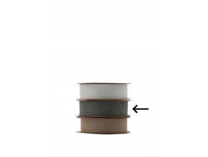 Dekorativní stuha Herringbone - Dark Grey