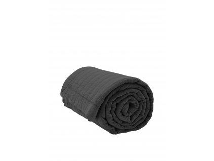 Přehoz na postel Magnhild Coal - 280x160cm