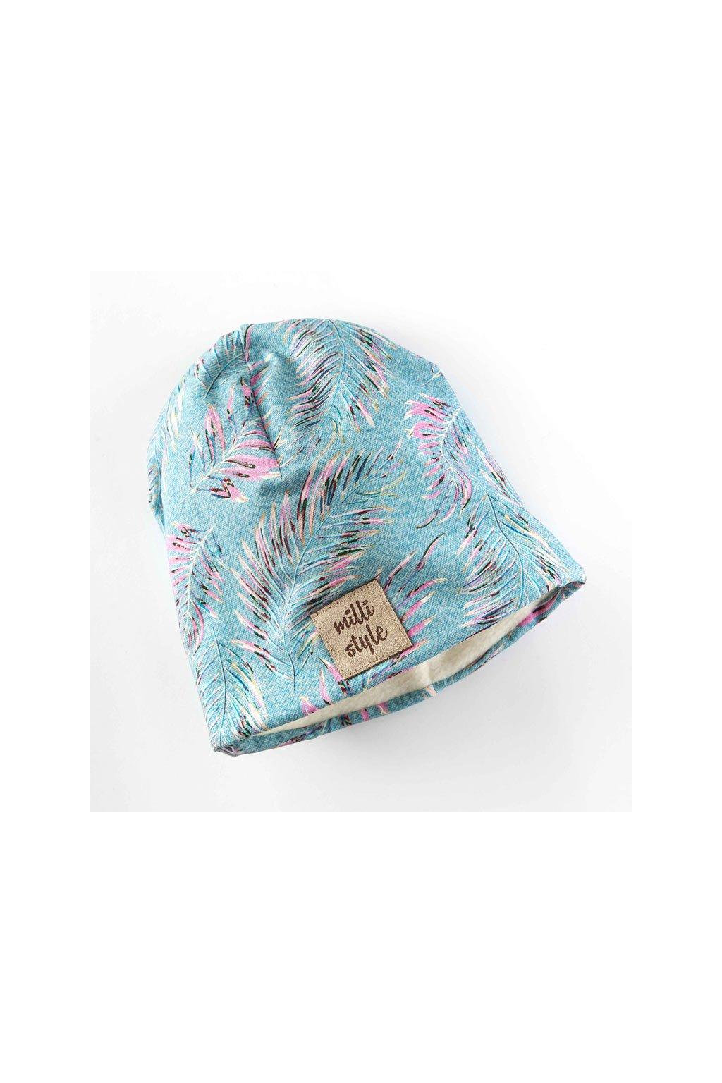 Zimni cepice modre peri