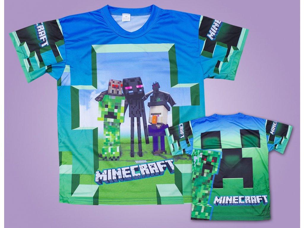 triko minecraft světlé