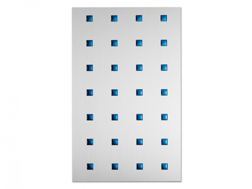Hliníková fólie Metalefekt čtverce 3D modré
