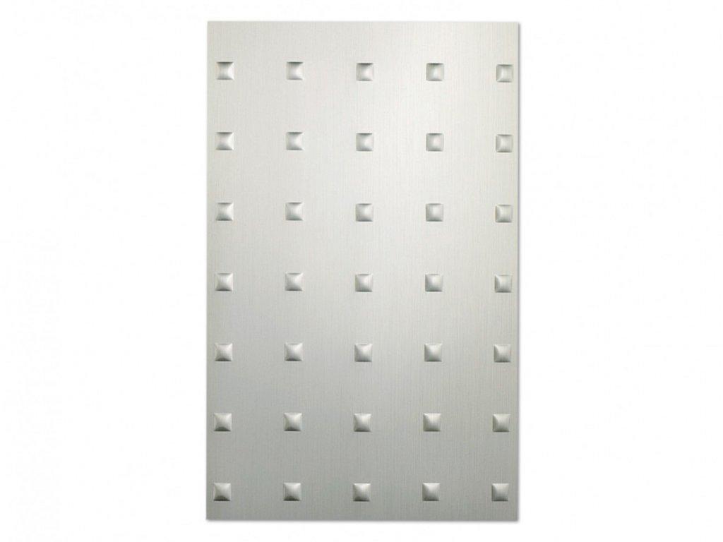 Hliníková fólie Metalefekt čtverce vypouklé
