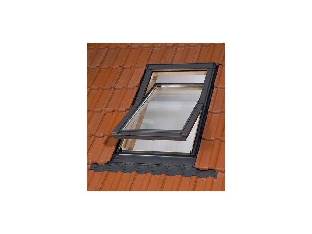 BALIO dřevěné střešní okno s trojsklem a lemováním 78x118