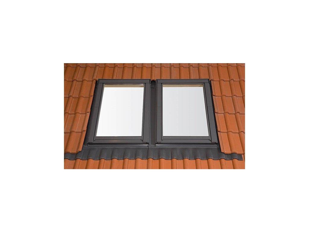 Univerzální kombi lemování Rooflite, prvek 1+3 (16-120 mm) UCX 13 (Velikost 78x140)