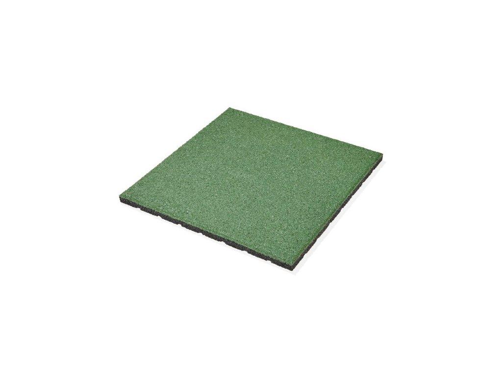 Gumová dlažba FUNDUS SQUARE S25 zelená