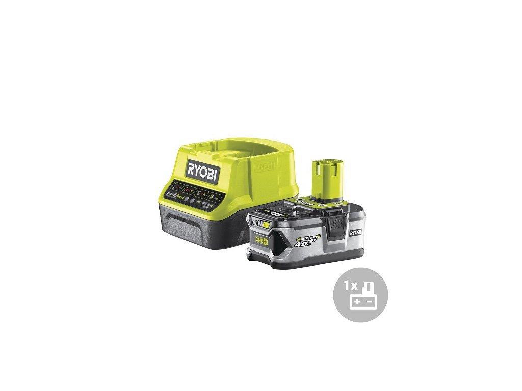 Ryobi Set akumulátor + nabíječka RC18120-140, 18V, 1x 4,0Ah