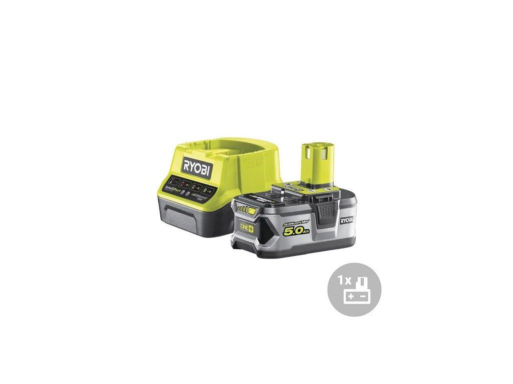 Ryobi Set akumulátor + nabíječka RC18120-150, 18V, 1x 5,0Ah