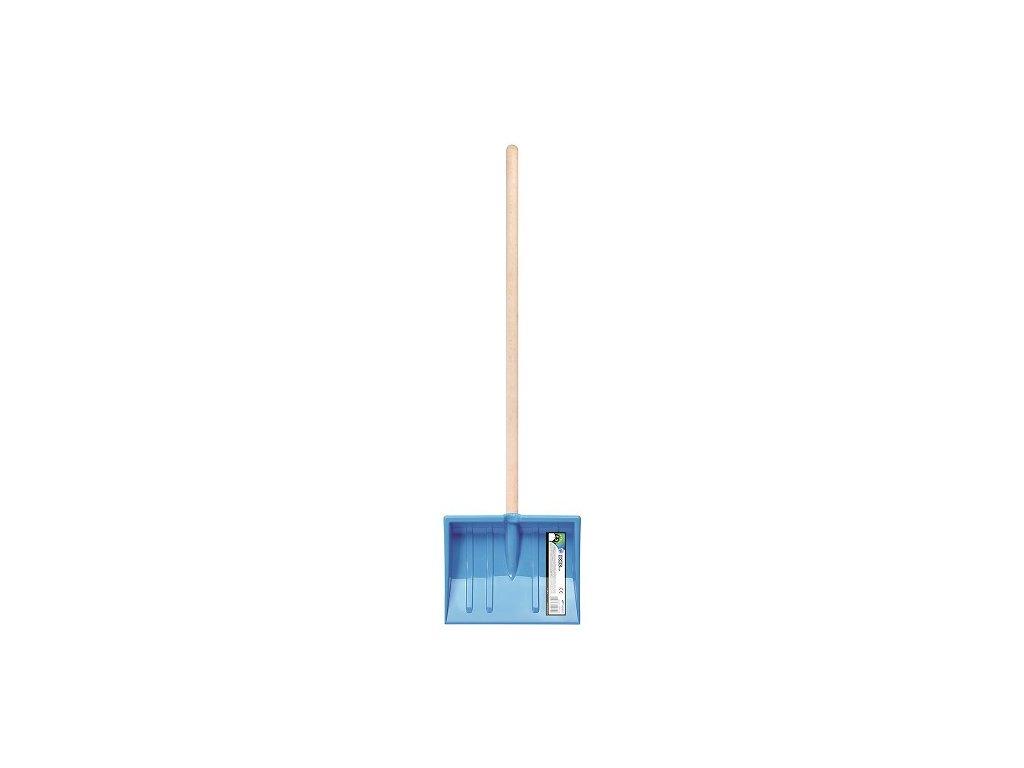 Dětské hrablo na sníh BOBO modrá, 20x25cm, dřevěná násada