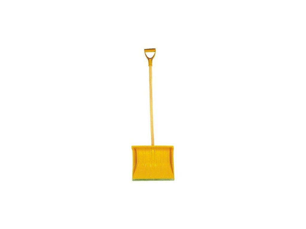 Dětské hrablo na sníh žluté, 21x29cm, dřevěná násada