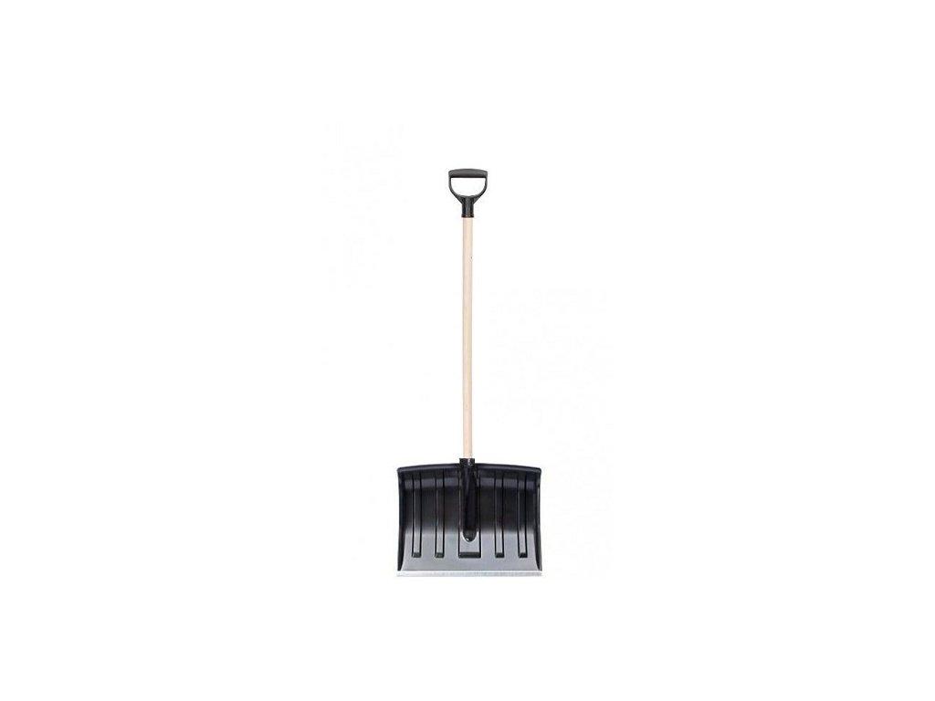 Hrablo na sníh ECO černé, 32x50cm, dřevěná násada