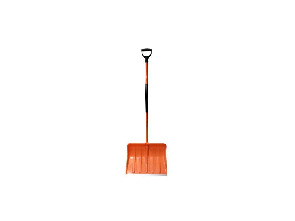 Hrablo na sníh ERGO oranžové, 36x46cm, kovová násada
