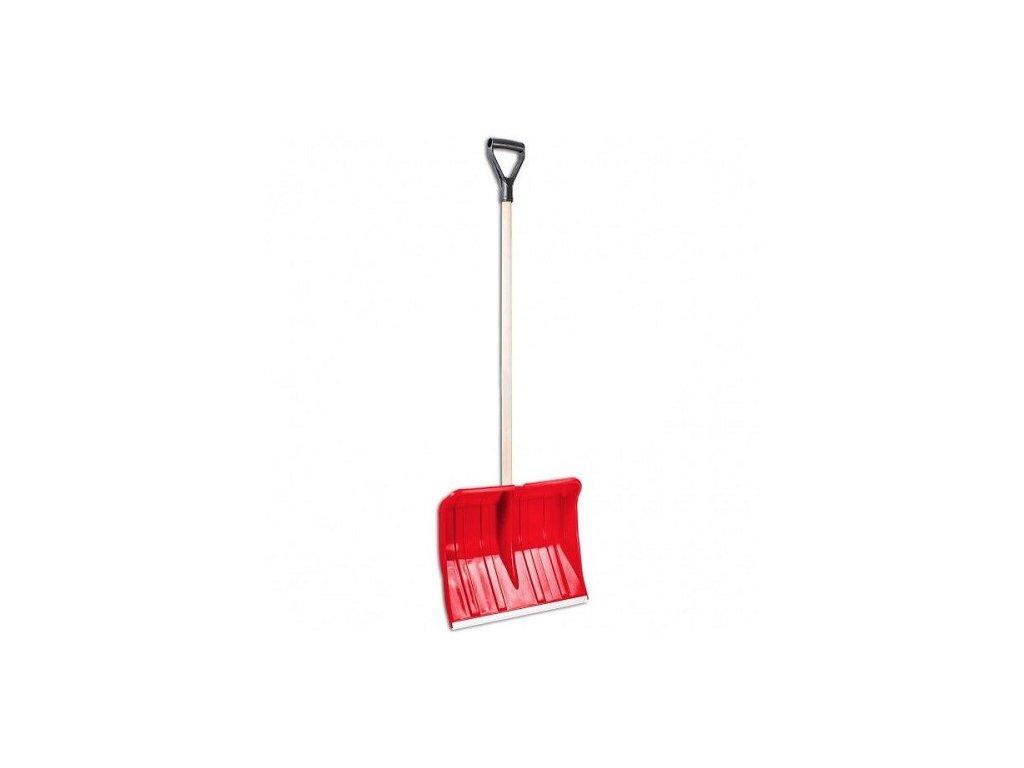Hrablo na sníh PRA-DED červené, 37,5x49cm, dřevěná násada