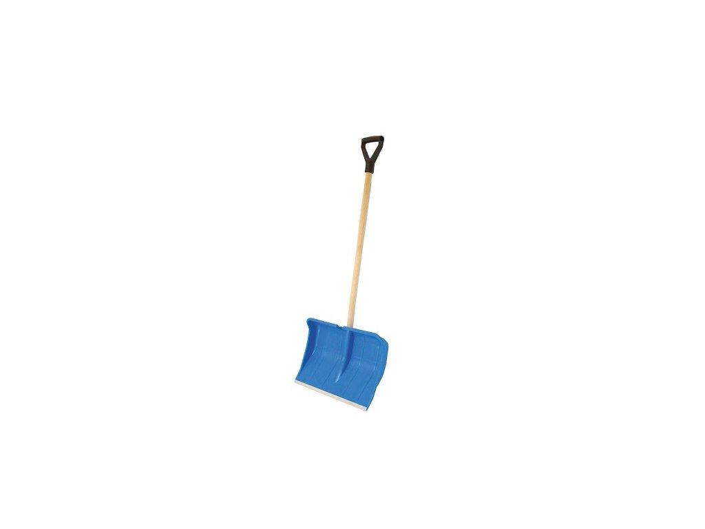 Hrablo na sníh PRA-DED modré, 37,5x49cm, dřevěná násada