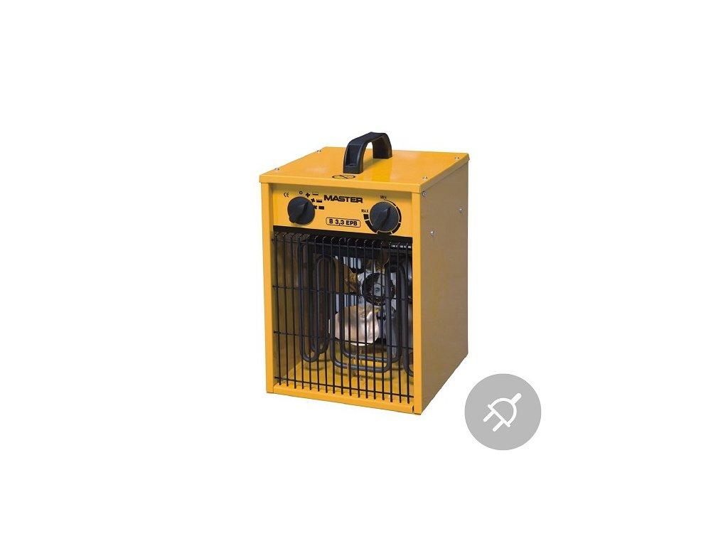 Elektrické topidlo B 3,3 EPB Master, 3,3kW, s ventilátorem