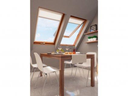 7 FakroLent holandsko okna vhodna do koupelny