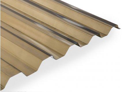Polyvinylchloridová trapézová deska Guttagliss PVC HR (rozměr desky čirá 2.5  x 1,09 m)