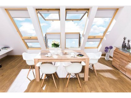Střešní balkónové okno FAKRO FGH-V P2 Galeria