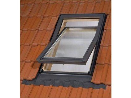 BALIO dřevěné střešní okno s trojsklem a lemováním 55x78