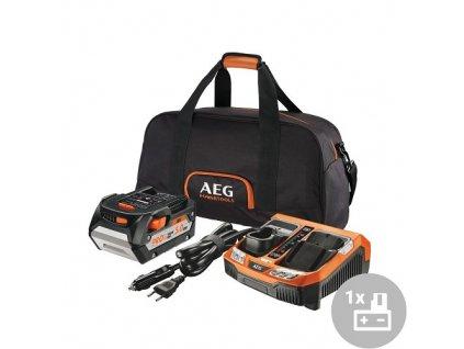 AEG Set akumulátor + nabíječka SET L1850BLK, 18V, 5,0Ah