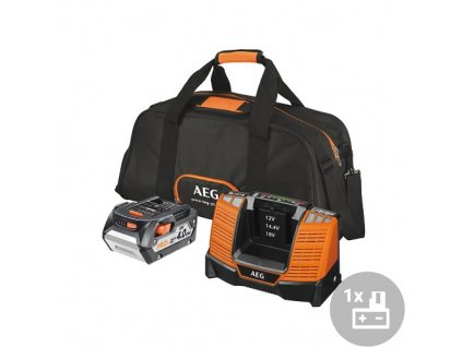 AEG Set akumulátor + nabíječka L1840BL, 18V, 1x 4,0Ah