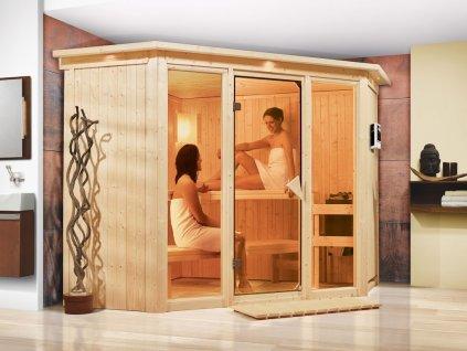 Finská sauna KARIBU FLORA 2 (52953)