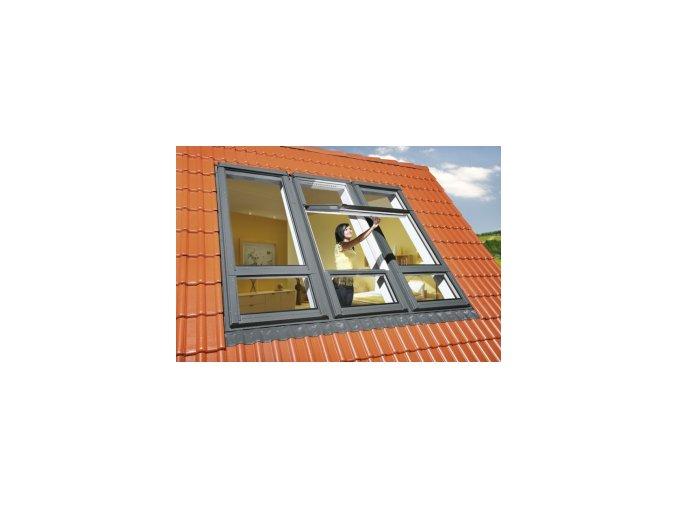 Kyvné okno FAKRO FDY-V/U U3 Duet proSky se zvýšenou osou otáčení a dolním prosvětlením