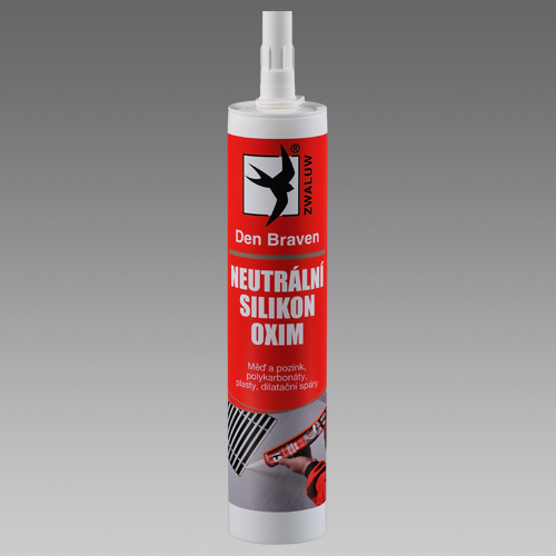 Den Braven Neutrální silikon OXIM 310ml Rozměr: Bílá