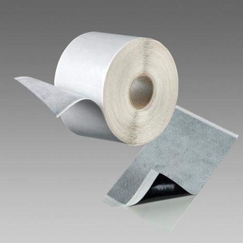 Den Braven Páska FLEECEBAND / Butylový pás s textilií Rozměr: 80 mm / 30 m / síla 1 mm