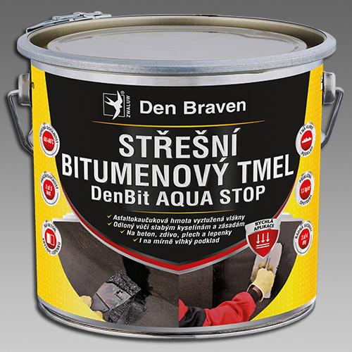 Den Braven Střešní bitumenový tmel DenBit AQUA STOP Obsah: 1 kg