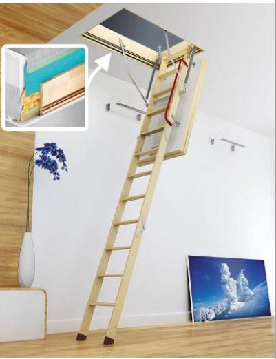 Půdní schody Fakro LWT Passive House + dárek v hodnotě 200 kč Půdní schody Fakro: 280 62x122 cm