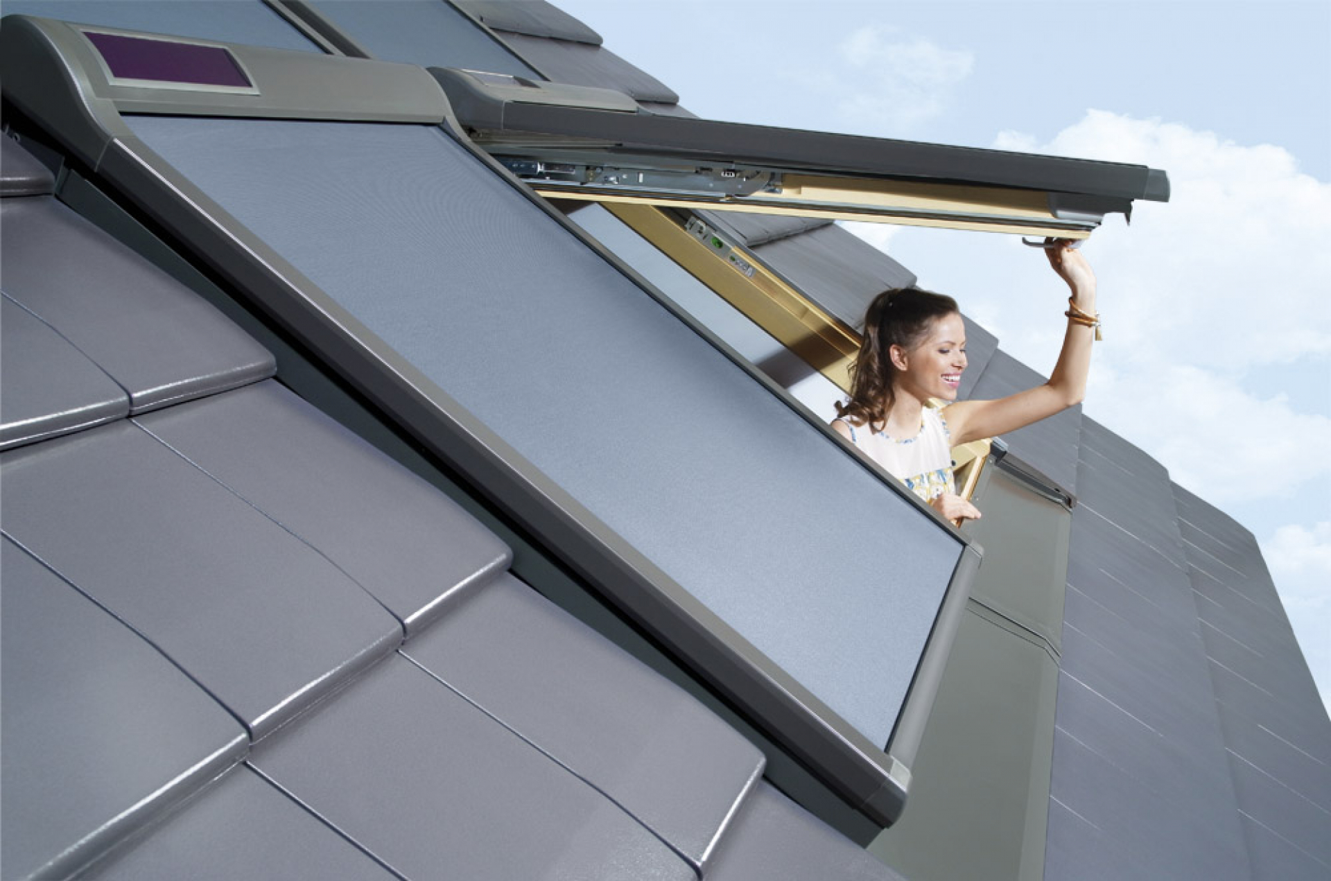 Markýza FAKRO AMZ Solar II Rozměr okna FAKRO: 01 55x78 cm