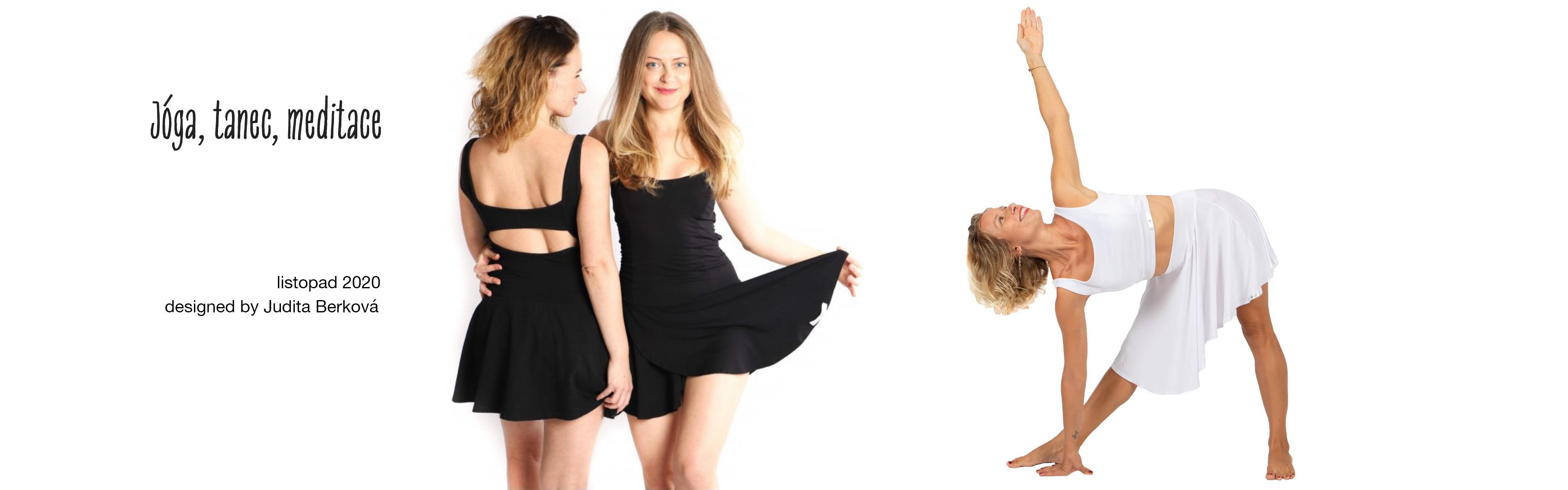 Jóga, tanec, meditace - černé šaty