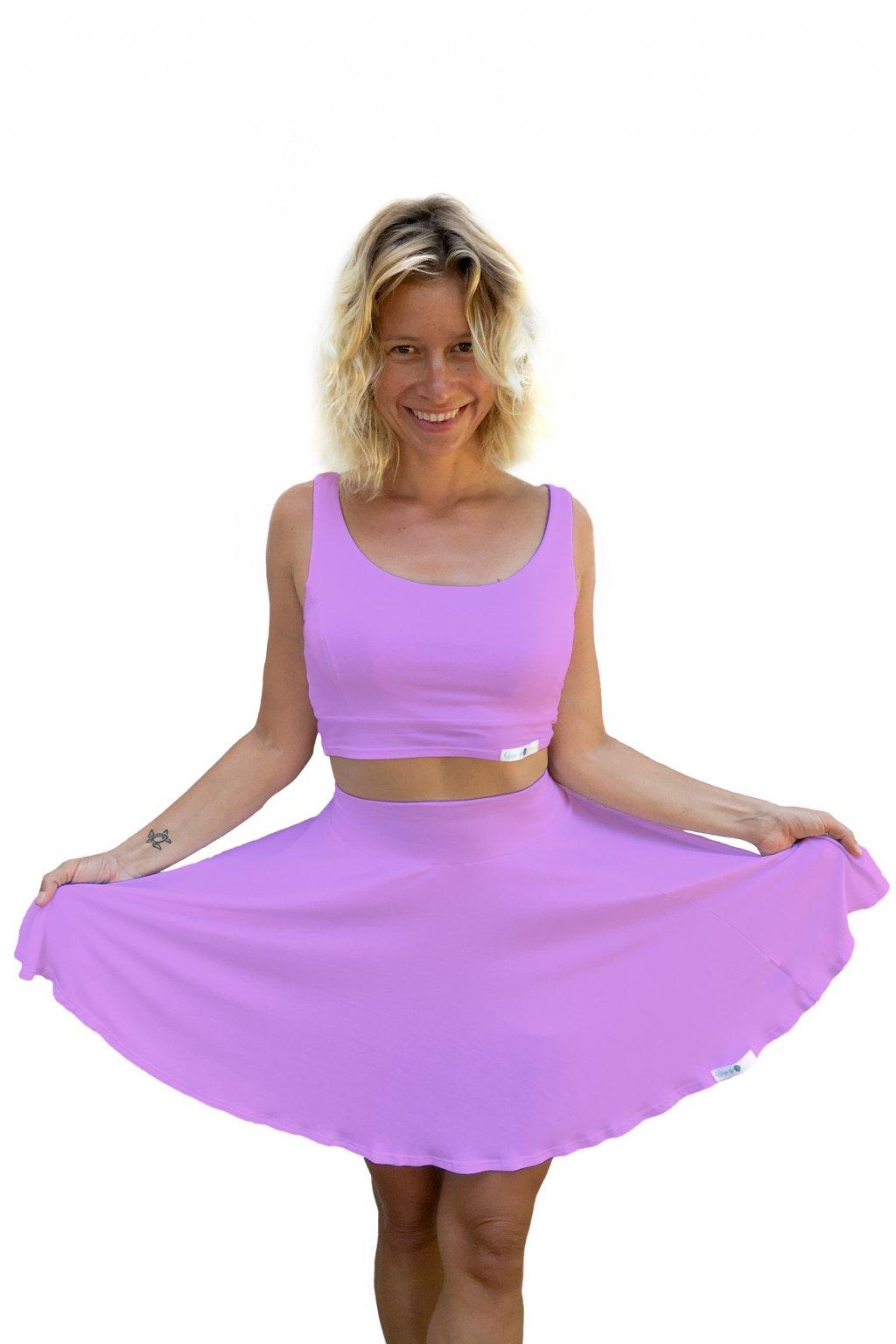 sukne na jogu svetle ruzova
