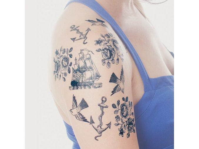 Námořnický balíček tetovaček Tattly Nautical Set