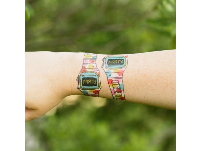 Tetovačka Tattly Hodinky Party Watch