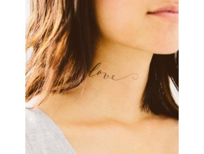 Tetovačka Tattly Typografie Just Love