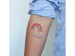 Tetovačka Tattly Rainbow on Skateboard