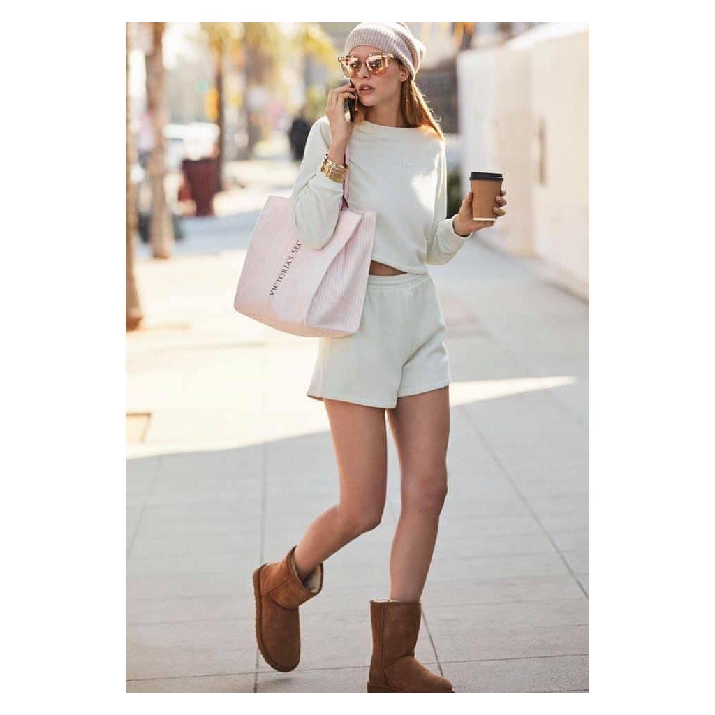 Victoria's Secret velká Pink Stripe plátěná taška z limitované kolekce 2021