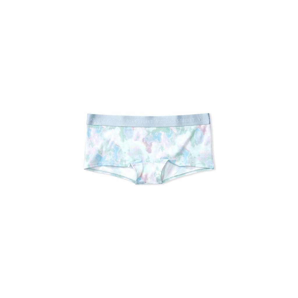 Victoria's Secret modré batikované kalhotkové šortky Logo Boyshort
