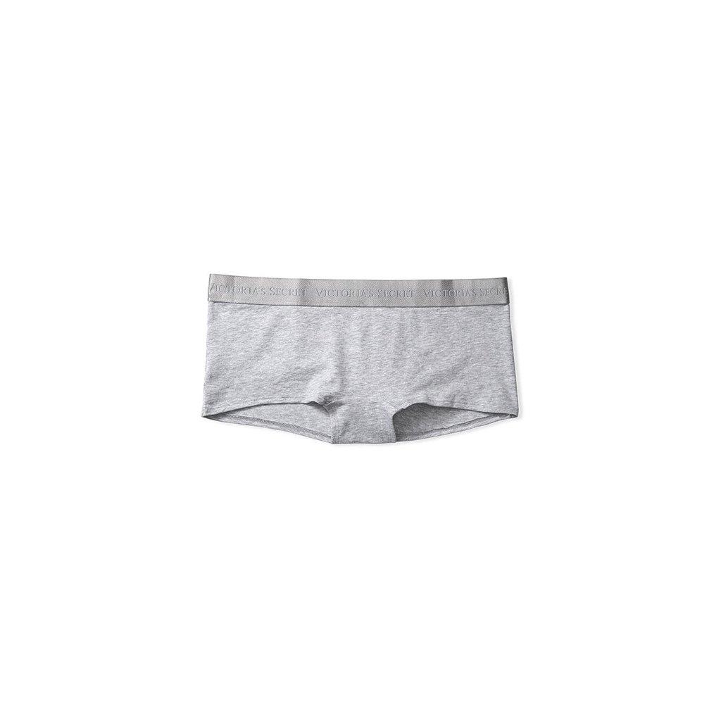 Victoria's Secret šedé kalhotkové šortky Logo Boyshort