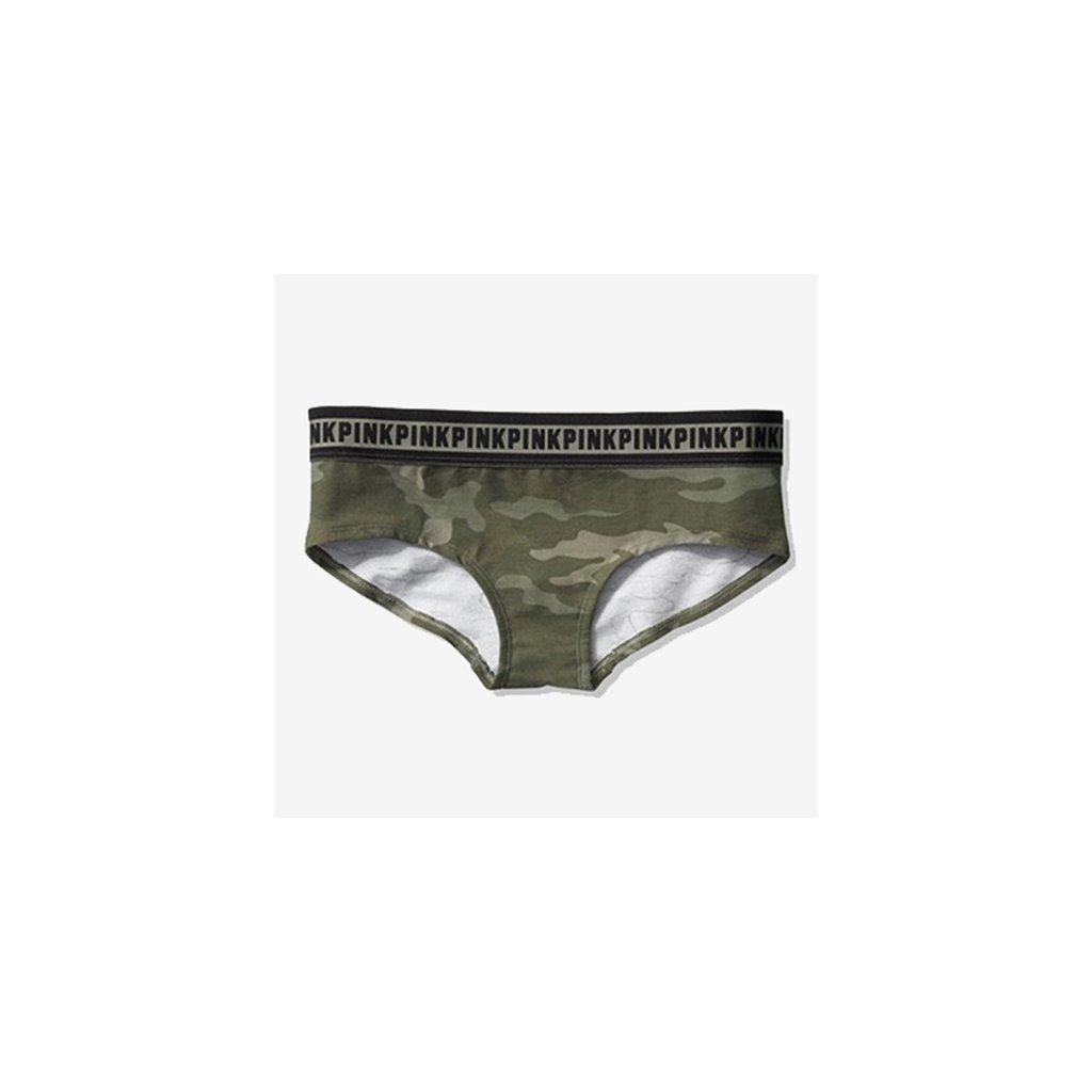 Victoria's Secret PINK maskáčové bokové kalhotky
