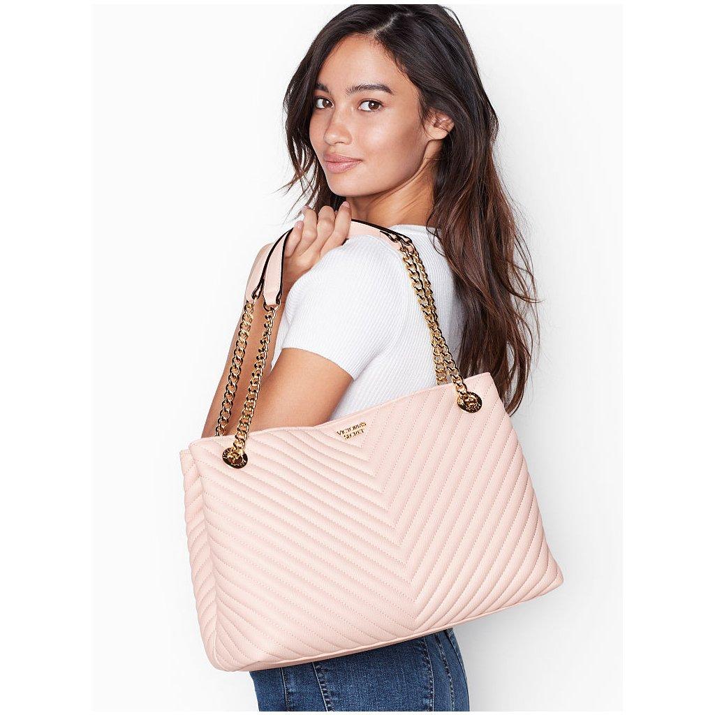 Victoria's Secret elegantní růžová taška přes rameno