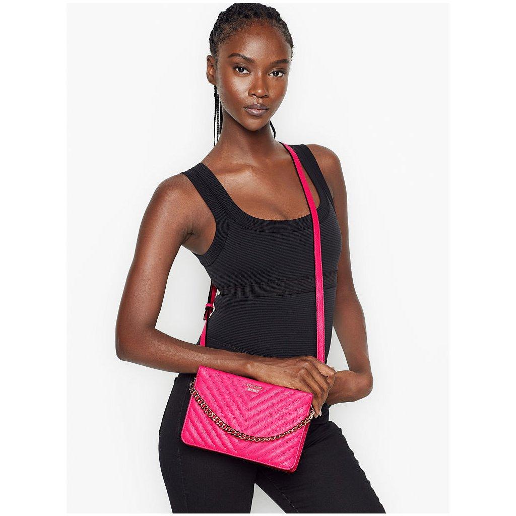 Victoria's Secret luxusní růžová crossbody kabelka