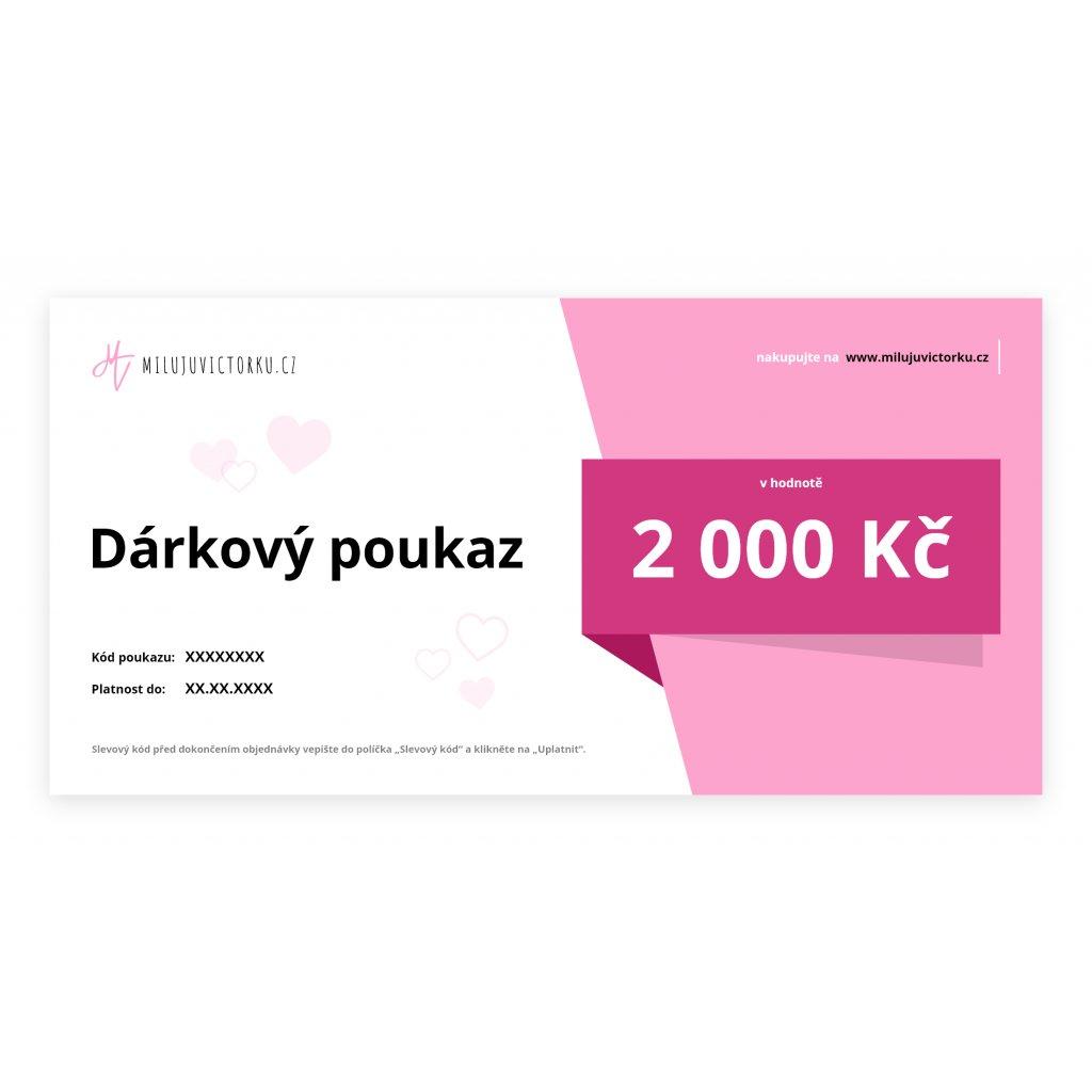 MV voucher 2 000 Kč